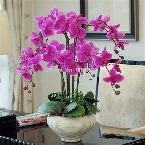 living room decorating ideas for living rooms flower vase coffee real touch phalaenopsis set high simulation orchids flower