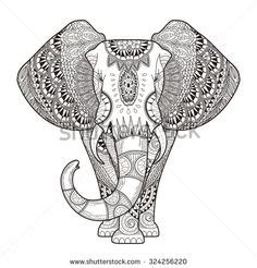 hipster elephant coloring page depression drawings tumblr google search doodles