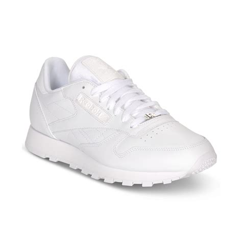 reebok classic sneakers reebok s classic leather casual sneakers from finish