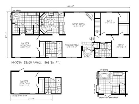 Blueprints For Ranch Style Homes | ranch style house plans with open floor plan ranch house