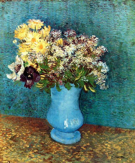 Gogh Vase With Flowers by Vase With Flieder Margerites Und Anemones Vincent