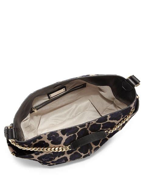 Jimmy Choo Ring Shoulder Bag by Jimmy Choo Leopard Print Calf Hair Shoulder Bag In