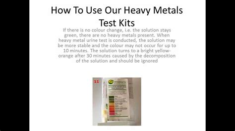 How To Detox From Lead by Heavy Metals Detox Test Urine Water Heavy Metals