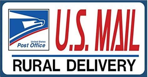 state email u s mail delivery magnetic sign rural delivery carrier