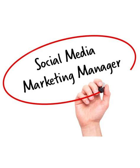 social media manager description social media marketing manager description hr