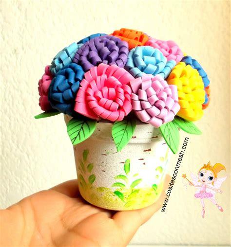 imagenes de flores fomix manualidades flores de fomi cositasconmesh