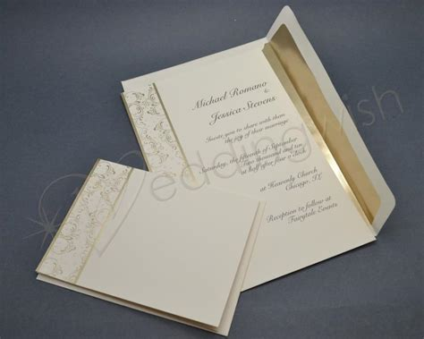 wedding wilton royal lining gold wedding invitation kits