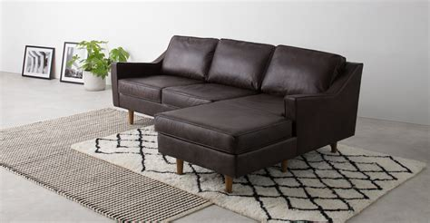 leather chaise end sofa dallas right hand facing chaise end sofa oxford brown