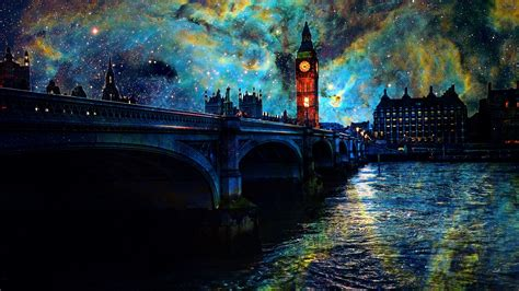 beautiful art pictures beautiful art pictures stars night london bridge