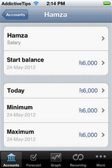 Empty Your Bank Account With Just Your Thumbs by My Cashflow Predicts Future Bank Balance To Help Clear