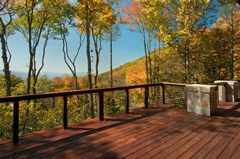 Modern Mountain Home   Rustic   Deck   charlotte   by