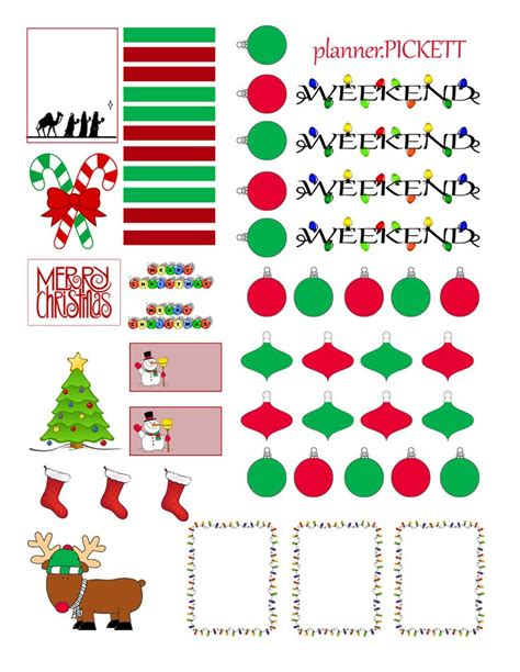 printable christmas planner stickers full faith christmas free sticker printable free