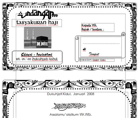 template undangan haji ms word download undangan gratis desain undangan pernikahan