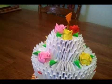 3d origami cake tutorial images frompo 3d origami low fat cake youtube