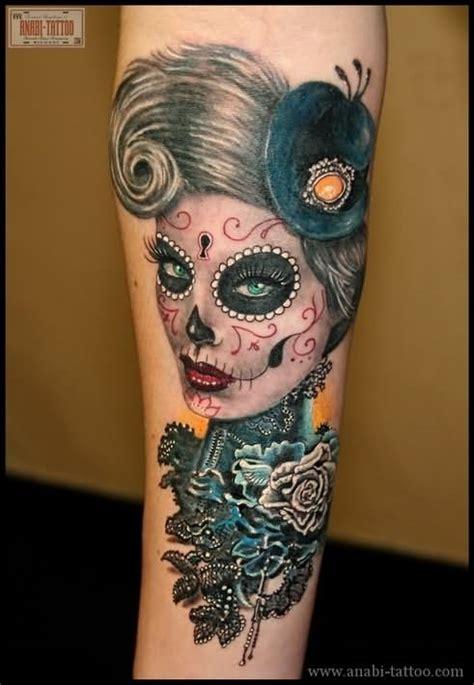 feminine skull tattoo images designs