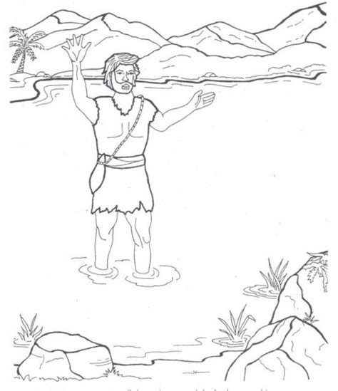 coloring pages for the baptist the baptist coloring pages sunday school