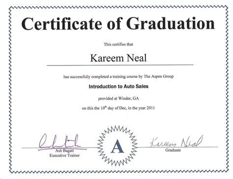 sle of certificate auto sales certificate