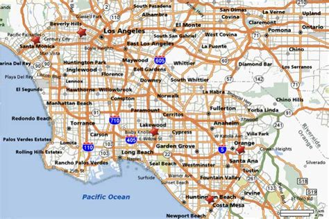 california map los angeles blogs map of los angeles california