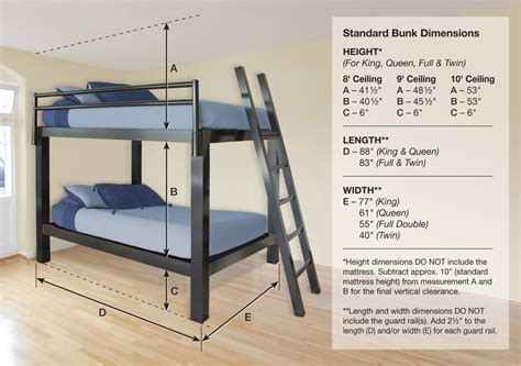 bunk bed dimensions bunk bed for adults francis lofts bunks