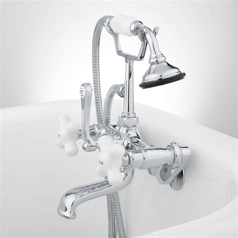 tub wallmount telephone faucet amp hand shower porcelain