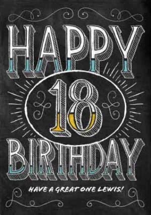 chalkboard style personalised happy  birthday card moonpig