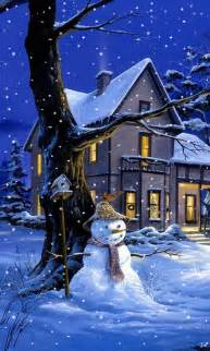 Maisons sous la neige 3 fonds d 233 cran anim 233 s gratuits