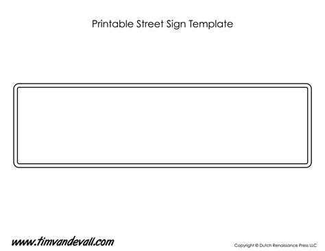 printable sign templates street sign template tim s printables