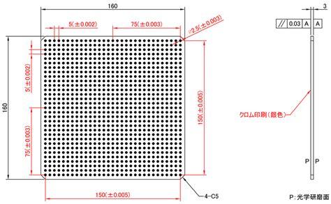 dot pattern calibration dot pattern cbd series detailed drawing glass