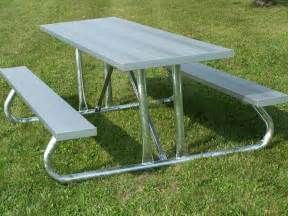 aluminum picnic tables metal park tables national