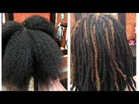 ta dreadlock extension how to do loc extensions youtube