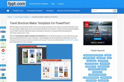 22 Free Brochure Makers For Designers Travel Brochure Maker