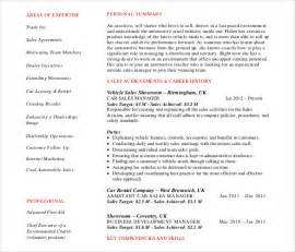Sle Of Resume Pdf by Automobile Resume Template 22 Free Word Pdf Documents Free Premium Templates