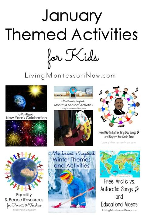 educational themes for january 70 best calendar activities for kids images on pinterest