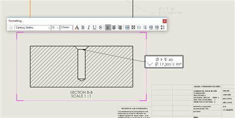 solidworks tutorial holes solidworks tutorial hole callout in a section view