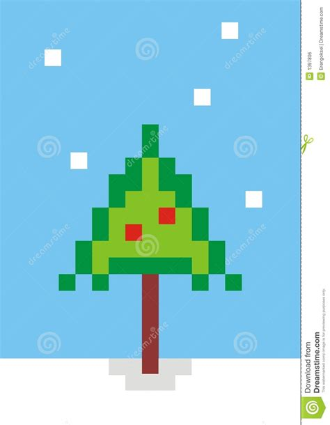 pixel christmas tree stock illustration illustration of