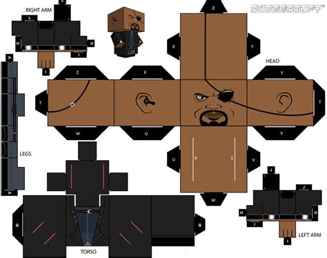 Fury Papercraft - nick fury cubeecraft 2 0 by briciocl on deviantart