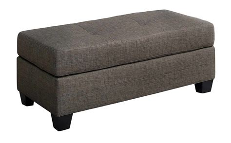 brown fabric ottoman homelegance phelps ottoman brown gray fabric 9789brg 4