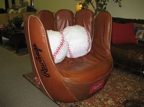 baseball glove chair estate sale by curt schilling