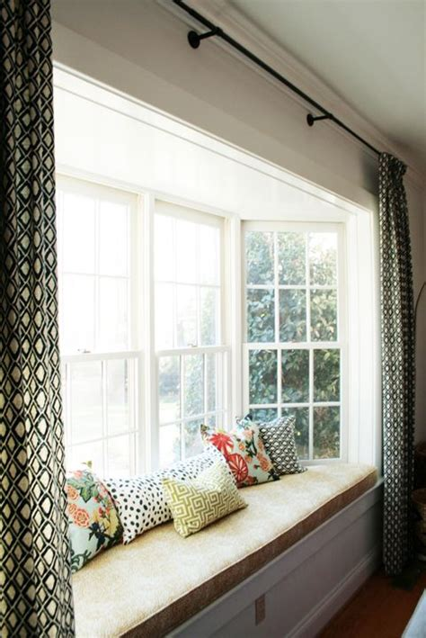 cheap bay window seat attractive window treatment ideas for bay windows and
