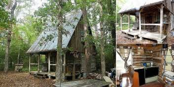 How To Build A Small Cabin In The Woods Tiny Off Grid Rustic Log Cabin Home Design Garden