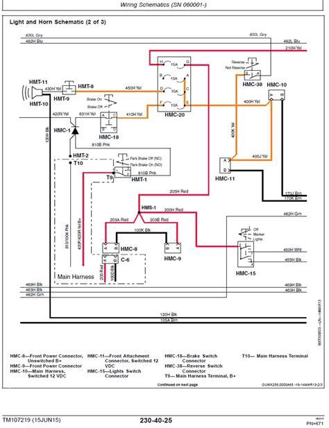 engine wiring wiring horn blinkers deere gator cx diagram