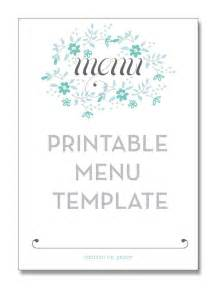 free printable wedding menu card templates printable menu template from smitten on paper tea