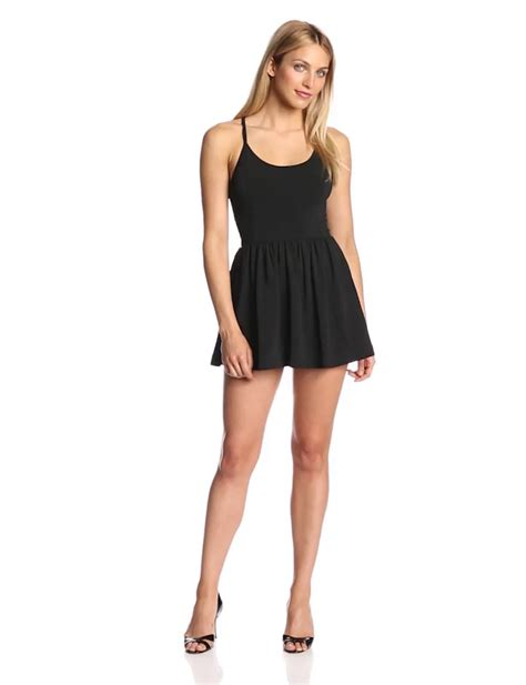 Dress Marina Fit L C aesthetic official connection women s marina plains fit and flare dress black 2