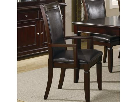 arm chairs dining room coaster dining room arm chair 101633 furniture