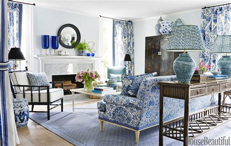 show me some new modern patterns for furniture upholstery mark d sikes interior design blue and white house tour