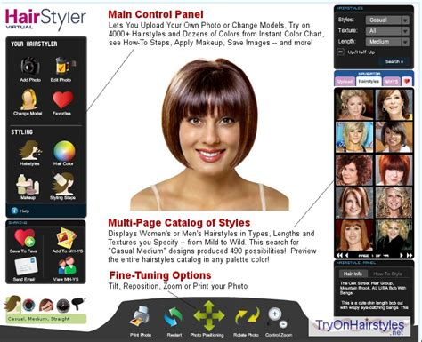 try on hairstyles try on hairstyles online colors cuts virtual hair gallery
