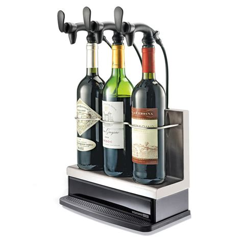 3 bottle wine saver home preservation and serving system
