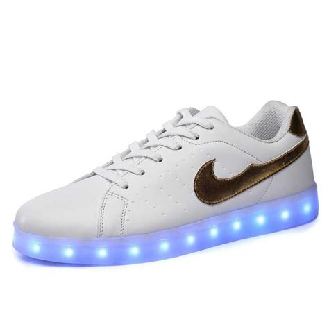 sneakers s shoes led shoes white nikelied usb charging sneakers