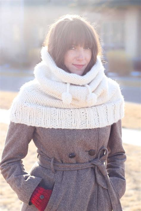 knit hooded cowl pattern quot the huggle quot hooded cowl free knitting pattern make