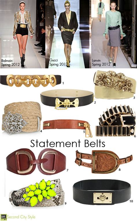 Trends To Avoid The Top Second City Style Fashion Second City Style by Trend For 2012 Statement Belts Second City